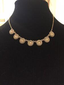 Beautiful Gold Embellished Medallion Necklace