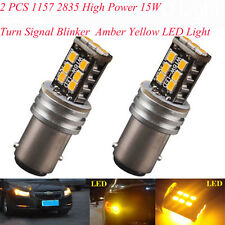 Saling  2PCS 1157 2835 High Power 15W Turn Signal Blinker Amber Yellow LEDs