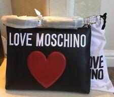 Genuine Love Moschino Black Red Heart Cross Body/Clutch bag BNWT