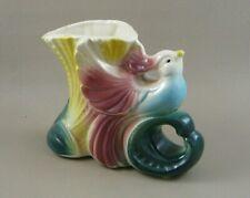 Vintage American Bisque Bird Of Paradise Pottery Planter Vase