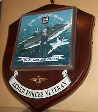 Royal Navy Fleet Air Arm Veteran Wall Plaque with name, rank & number free.