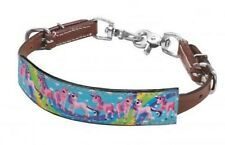 """Showman PONY SIZE """" Rainbow Pony Print"""" Leather Wither strap! NEW HORSE TACK!"""