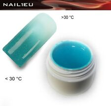 UV Thermo Gel 14 Turquoise - White Metallic 5ml / Nail ColorGel Color