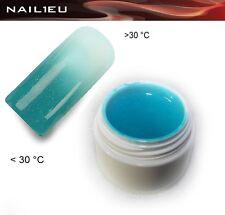 UV Thermogel 14 Türkis - weiß metallic 5ml/ Nagelgel Colorgel Thermo-Gel Farbgel