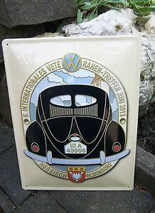 LARGE WALL SIGN Volkswagen German VW Split Bug Beetle Meeting Hessisch Oldendorf