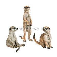 Papo 50099 Meerkat Set of 3 on Platform Animal Model FigurineToy Replica - NIP