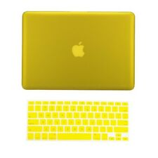 "2 in 1 Rubberized YELLOW Hard Case for Macbook PRO 13"" A1278 with Keyboard Cover"