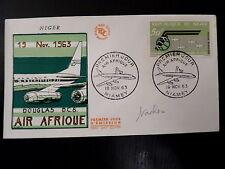 NIGER AERIEN 35   PREMIER JOUR FDC      DOUGLAS DC 8   AVION     50F     1963