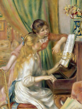 Young Girls at the Piano by Pierre-Auguste Renoir 60cm x 45cm Art Paper Print