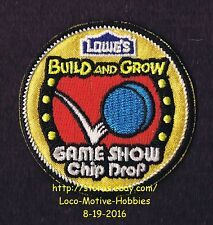 LMH PATCH Badge '12 GAME SHOW CHIP DROP Gameshow LOWES Build Grow Project Series
