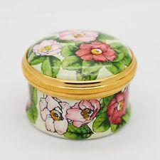 """Halcyon Days Floral Enamel Decorative Box """"The Metropolitan Opera"""""""