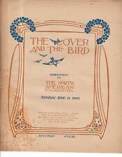 1903 The Lover and the Bird Newspaper insert - Guglielmo