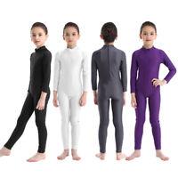 Girls Ballet Dance Leotard Gymnastics Kids Catsuit Bodysuits Unitard Dancewear