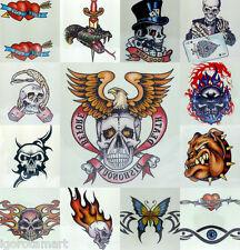 Temp Stretch Tattoo Choker Retro Gothic Punk Elastic 80s 90s UK Post