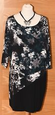 "YEST ""Akshita"" Black Teal Leopard Animal Print Tunic/Top Size 18 UK BNWT £49.95"