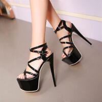 Women's Sexy Solid Peep Toe Platform Shoes Stilettos Party Nightclub High Heels