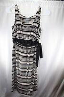 Oh Baby! Small Black Off White Stripe Maternity Women's Dress