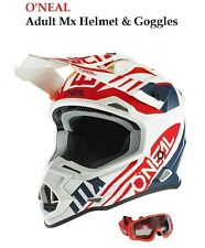 Oneal MX Enduro Casco OFF ROAD GAFAS suciedad Moto Motocross Gear Set
