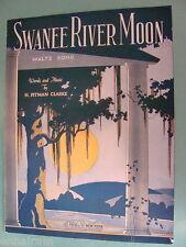 Swanee River Moon Waltz 1921 H Pitman Clarke,  cover art by H H Warner