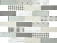 Mosaico Piastrella vetro traslucido eco retro pavimento grigio 88-R002 |1 foglio