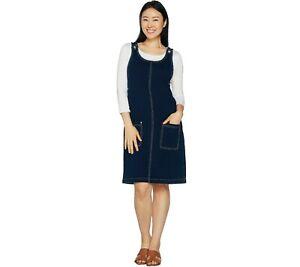 NWT Quacker Factory Dream Jeannes Jumper Dress Dark Indigo 1X