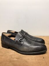 Mens 11EE Ermenegildo Zegna A0904 Black Leather Loafers