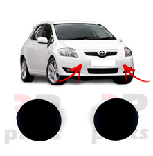 FOR TOYOTA AURIS 07-10 FRONT BUMPER TOW HOOK COVER CAP FOR PAINTING PAIR SET