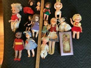 Huge Lot of 15 Vintage Small Dolls. Vogue, Mattel, Ideal