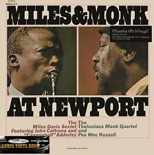 ♫ 33T MILES DAVIS & THE THELONIOUS MONK QUARTET-MILES & MONK AT NEWPORT-180 G ♫
