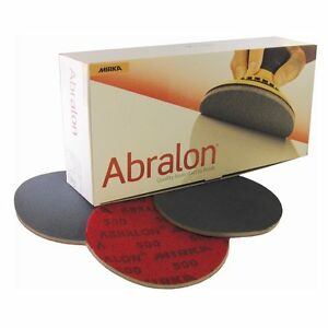 "Mirka Abralon Sanding Discs (150mm - 6"") - Pack of 1. P180 to 4000 Grit Ranges"