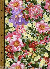 Gabrielle Quilt Quilting Fabric by half yard 15525 12  Purple Pink Flowers Moda