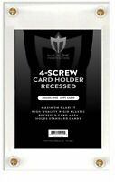 Box of 50 Max Pro Recessed 4-Screw Ultra Clear Trading Card Holders