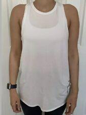 Lululemon Size 2 All Tied Up Tank White WHT Pima Cotton Run Speed Layer Yoga NWT