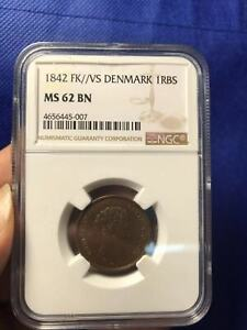 NGC-MS62BN 1842 FK//VS DENMARK 1RBS VERY SCARE