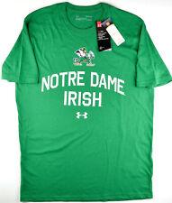 Under Armour Notre Dame Fighting Irish Green T-Shirt Leprechaun Men's Medium