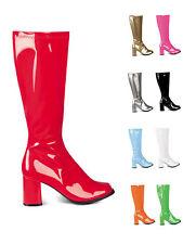 1 Paar Stiefel 70s Retro Disco GoGo Fasching Karneval