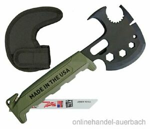 OFF GRID TOOLS Survival Axe Elite Green Axt Hacke Beil Tomahawk Outdoor Survival