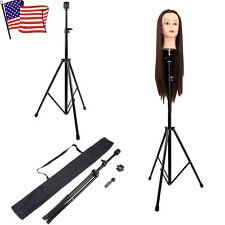 US Mannequin Head Tripod Hairdressing Training Head Holder Hair Wig Stand Tool