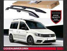 VW Caddy Aluminium Dachreling Dachgepäckträger Matt Schwarz Kurze Radstand Dr01