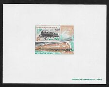 L3273 MALI DELUXE PROOF LOCOMOTIVE TRAINS AIR MAIL 1980  200F