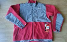 NWT! The North Face Men's Denali Fleece Jacket in Red & Grey $179, Sz XL