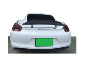 Fit for 13-16 Porsche 981 Cayman Coupe Rear Spoiler Duck Tail G Style Unpainted