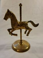 Vintage Solid Brass Carousel Horse 8""