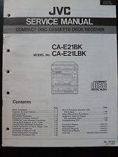 ORIGINALI service manual JVC ca-e21bk ca-e21lbk