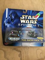 Star Wars Micro Machines Episode I Pod Racer Pack III Vintage 1998