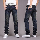 New Jeans Men's Straight Slim Casual Pants Denim Jean Pants Skinny Trousers