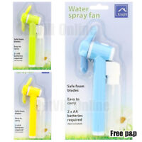 Spray Fan Water Mist Portable Travel Hand Held Summer Face Cooler Holiday ZZ