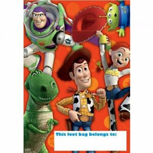TOY STORY BIRTHDAY LOLLY LOOT BAGS FAVOR DECORATION PARTY SUPPLY Pk 8