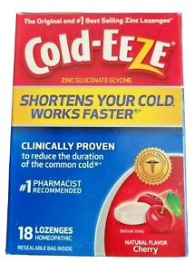1x Cold-EEZE Cold Remedy Cherry Lozenges Homeopathic 18 Count