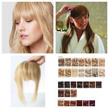 Fringe Bang 100% Human Hair Natural Clipped Hairpiece Extension Various Stranded